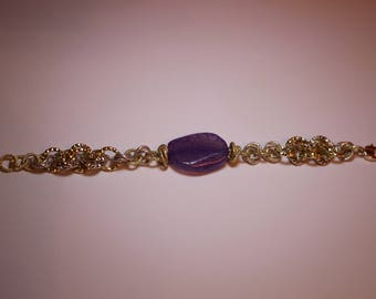 Chain bracelet with Glass pearl