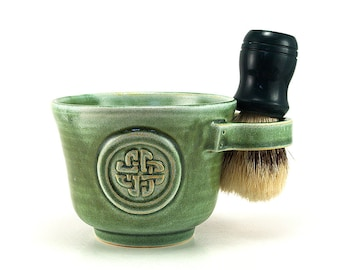 Celtic Knot Shaving Mug in Green Brush Is Not Included Ready to Ship