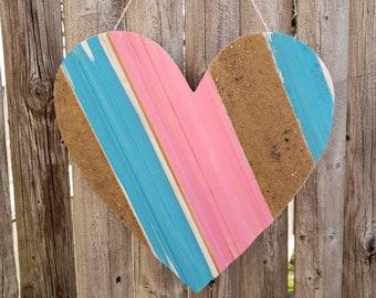 Blue/Pink Sand Heart