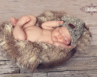 Fur Photography Props Curly Fur Newborn Baby Photography Prop for Newborn Photography Soft Blanket Rug Nest Photo  Prop Backdrop Beige/Brown