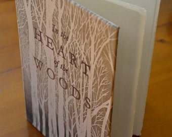 Artist's book, hand made limited edition book with etchings and letterpress