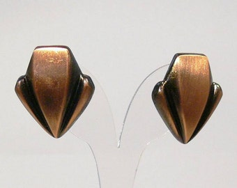 Copper earrings, copper earrings, studs arrow, two-tone earring, earrings, copper arrow, minimalist earrings, gift