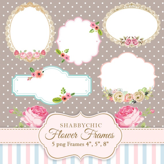 flower tags template free - shabbychic flower frames png frames flowers label flowers