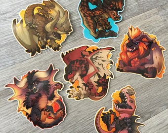 Monster Hunter Stickers