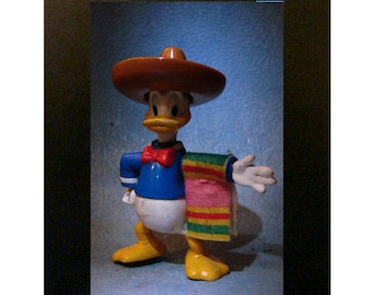"Framed Mexican Donald Duck Toy Photograph 4"" x 6"""