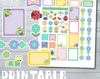 Spring Printable Planner Stickers - Perfect for Erin Condren & other Planners!