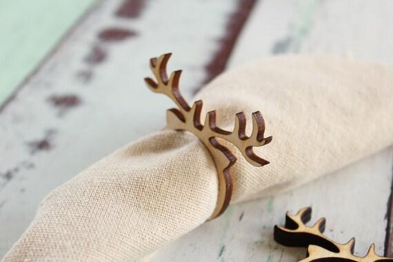Great Reindeer Napkin Rings Antler Napkin Rings Christmas Napkin Rings Wood Napkin  Rings