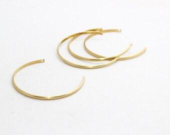 3 Pcs Raw Brass Wire Bracelet , Expandable Bangle  , Bangle Bracelet, Adjustable Bracelet Wire , 3x1,5mm , AE24