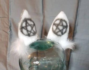 Realistic Car Ears with Pentagram