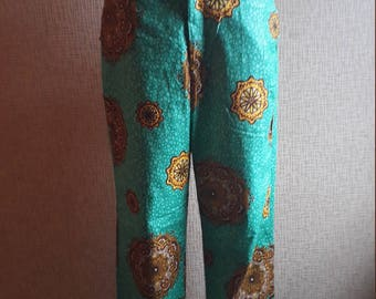 SALE**Women's trouser/ Ankara trouser/ African print pants/ Kitenge trouser/ cotton wax trouser/women's clothing/green pants