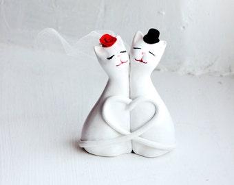 Wedding Cake Topper, Cat Cake Topper, Love Cats