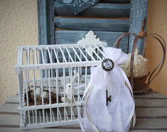 Handcrafted thrush revisited decorative caged bird cage