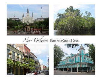 New Orleans Photo Note Cards Set of 8