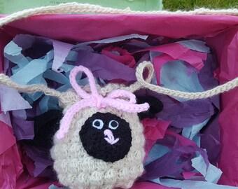 Crochet Sheep Handbag
