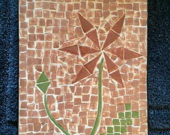 Hot plate, Hot Pad, mosaic,Tile, ceramic, flower pot pad,handmade