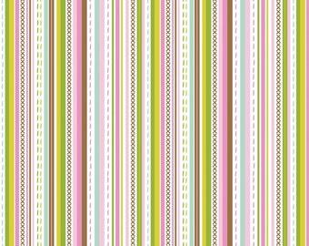 Stitch Bubblegum - Maude Asbury -  Blend Fabrics. 1 Yard Cut
