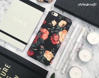 Roses Flowers iPhone Case iPhone X Case iPhone 8 Case iPhone 8 Plus Case iPhone 7 Case iPhone 7 Plus Case iPhone 6S Case 10 Matte Floral
