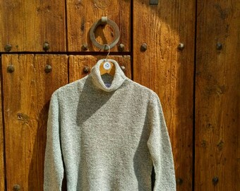 "High-neck recycled wool sweater ""Hivern rústic"""