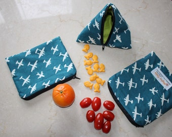 Boys snack bags | Organic snack bag set | Reusable Snack Bag | Organic Treat Bag | Party Favor
