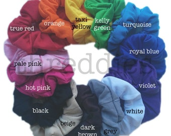 cotton scrunchies // pick your colors // bulk cotton scrunchie pack