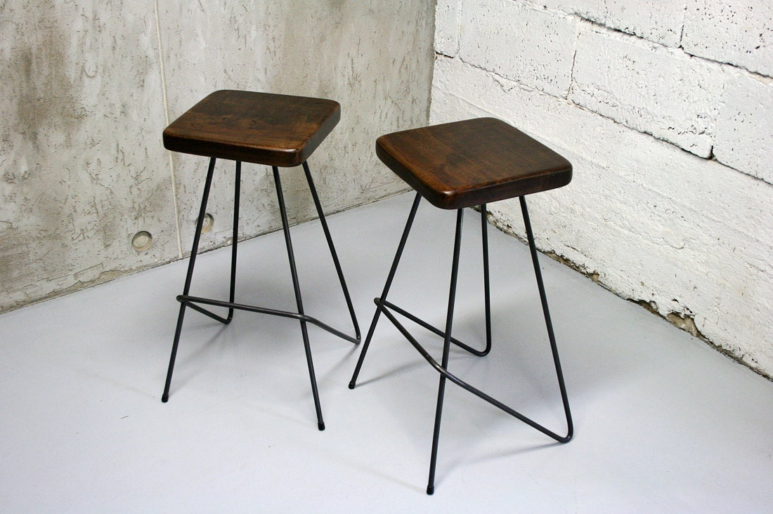 urban vintage stool adjustable black industrial furniture leather seating