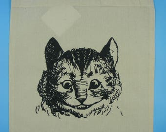 Alice in wonderland, Cheshire cat tote bag,