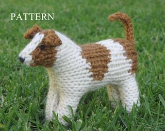 Jack Russell Dog Knitting Pattern, PDF