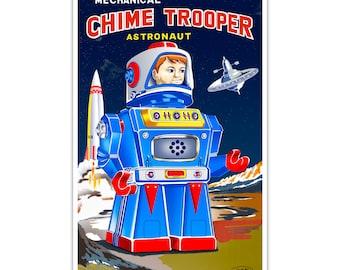 Mechanical Chime Trooper Astronaut 20x30 Giclee Print