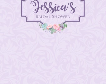 Custom Bridal Shower Engagement Wedding Backdrop Background Event Photo Booth (Multiple Sizes & Materials Available)