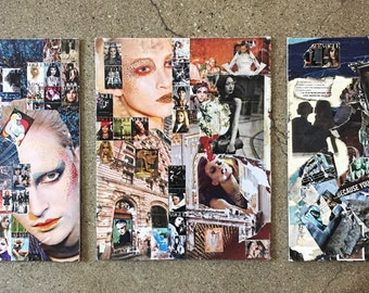 Handmade Collage Art Pieces- Fashion, Architecture and Design Inspired