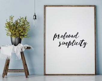Simplicity print, scandinavian print, typography print, simplicity poster, scandinavian art, minimal mood, modernist wall art, wall art