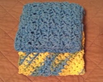 Cotton Crochet Dishcloths, Great Mother's Day Gift!