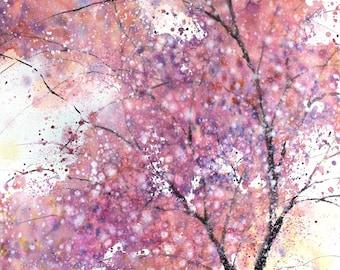 22x30 march 2018 no.2, original watercolor by Sumiyo Toribe