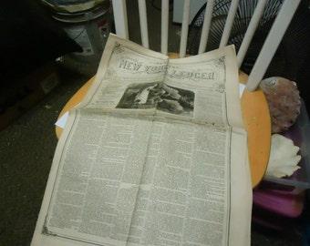 Vintage The New York Ledger 1873 Newspaper, collectable, Saturday, November 29