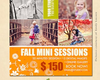INSTANT DOWNLOAD Fall Mini Session template - MA086