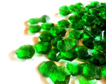 May Birthstone, Emerald, Edible Gems, Candy Gems, Birthday Cake Decorations, Hard Candy, Emerald Green