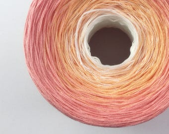 Color Change Gradient Yarn - ayla - Moca Cotton Yarn - 3 colors - fingering weight yarn - pure cotton