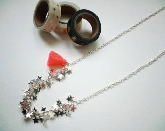 Silver Star necklace and tassel