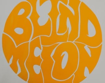 Blind Melon Bumper Sticker, car decal, vinyl decal, band sticker, laptop sticker, handmade sticker, vintage music, car personalization