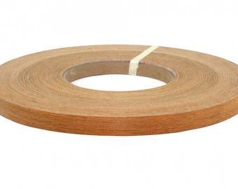"""teak pre glued ( 1/2"""" to 3""""x50' ) wood veneer edgebanding"""