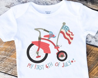 New My First 4th of July Onesies®, 4th of July Boy Onesie, Independence Day Onesie, Red White And Blue Onesie, Baby Boy Onesie, Retro Baby
