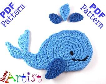 Whale Crochet Applique Pattern