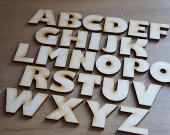 Laser Cut Letters, Perfect for crafters, Kids Crafts, Letters, Wooden Letters, A-Z Wooden Laser Cut Letters, Gill Sans Font, Craft Supplies