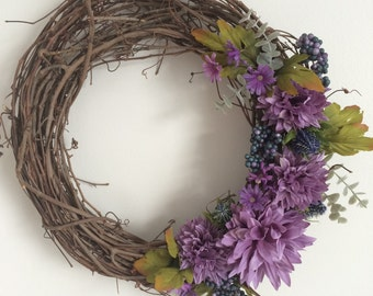 Purple Fall Wreath