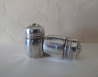 vintage sterling silver salt and pepper shakers