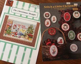 The Christmas Shoppe/Storefront Collection:Signature Series by Joy Averitt & Stitch a Little Christmas by Joan Green/Karen Nordhausen