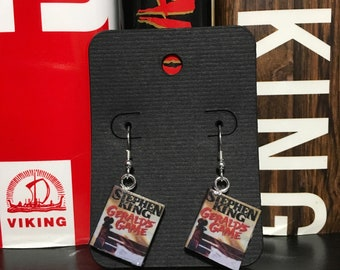Gerald's Game by Stephen King tiny book earrings