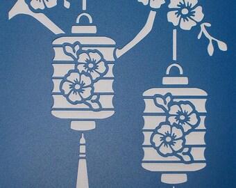 Chinese Lantern Stencil