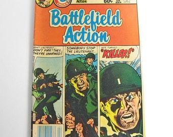 Battlefield Action comic book, Vol. 6 No. 80 April 1983, Charlton Comics Group, Charlton Publications Inc., military comic book
