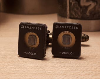 Atmel Microprocessor Cufflinks 27C256